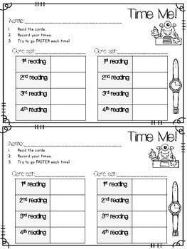 Sight Word Fluency Back to School 4