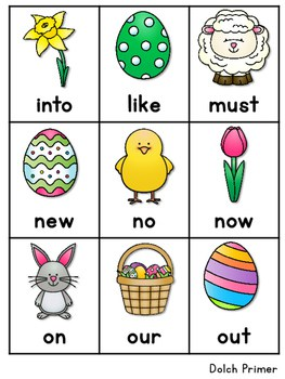 Sight Word Fluency Easter 4