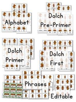 Sight Word Fluency Gingerbread 3