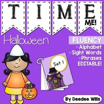 Sight Word Fluency Halloween 1