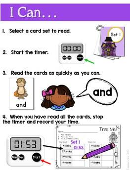 Sight Word Fluency Halloween 2