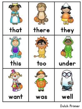 Sight Word Fluency Halloween 4