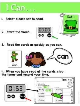Sight Word Fluency St Patrick's Day 2