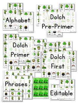 Sight Word Fluency St Patrick's Day 3