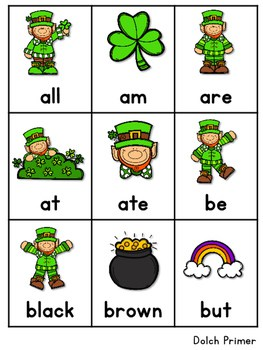 Sight Word Fluency St Patrick's Day 4
