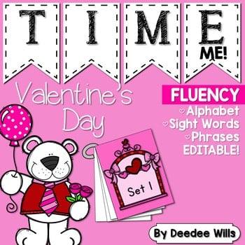 Sight Word Fluency Valentine 1