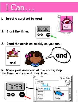 Sight Word Fluency Valentine 2