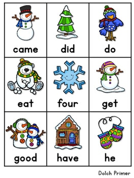 Sight Word Fluency Winter 4