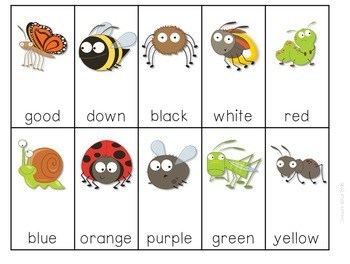 Sight Word Spelling Game ~ Backyard Bugs ~ editable 4