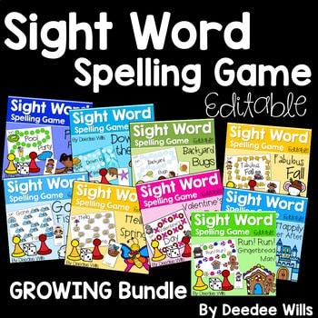 Sight Word Spelling Game ~ Bundle ~ Editable 1
