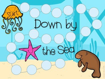 Sight Word Spelling Game ~ Down by the Sea ~ Editable 3