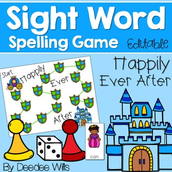 Sight Word Spelling Game ~ Fairy Tale ~ Editable 1