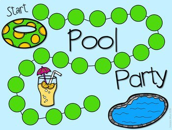 Sight Word Spelling Game ~ Pool Party ~ Editable 3