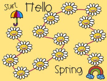 Sight Word Spelling Game ~ Spring ~ Editable 2