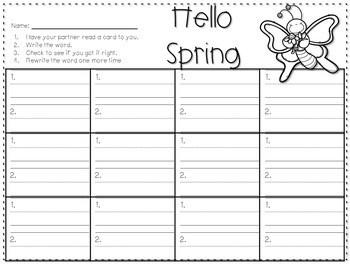Sight Word Spelling Game ~ Spring ~ Editable 4