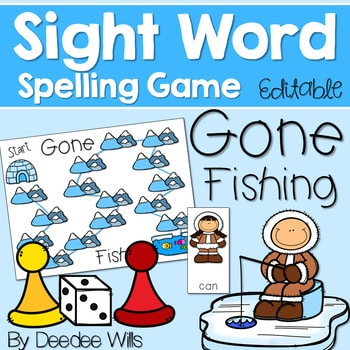 Sight Word Spelling Game ~ Winter ~ Editable 1