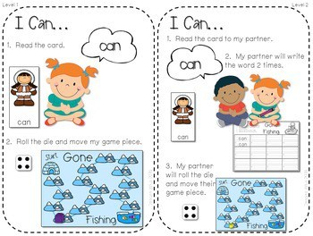 Sight Word Spelling Game ~ Winter ~ Editable 2