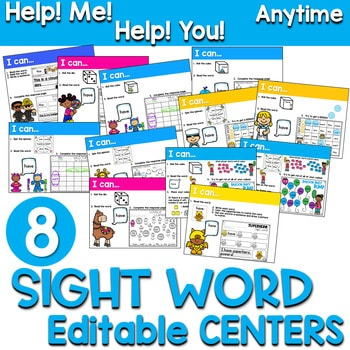 Sight Words Centers EDITABLE! ANYTIME 1