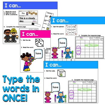 Sight Words Centers EDITABLE! ANYTIME 2