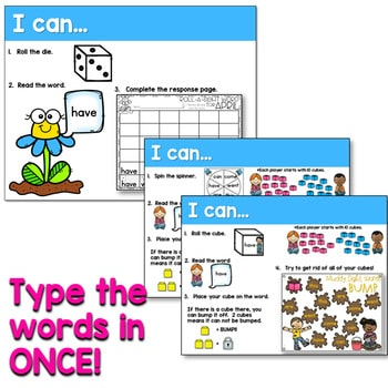 Sight Words Centers EDITABLE! APRIL 3