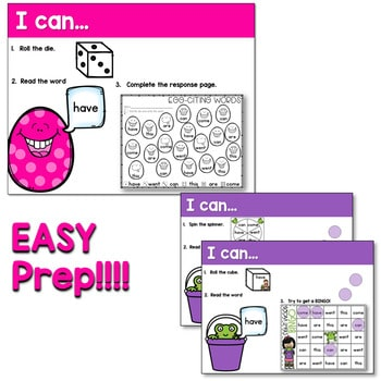 Sight Words Centers EDITABLE! APRIL 4