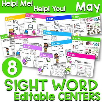 Sight Words Centers EDITABLE! MAY 1
