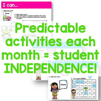Sight Words Centers EDITABLE! MAY 2