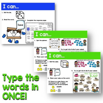 Sight Words Centers EDITABLE! MAY 4