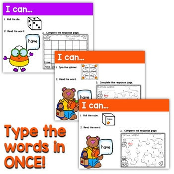 Sight Words Centers EDITABLE! OCTOBER 4