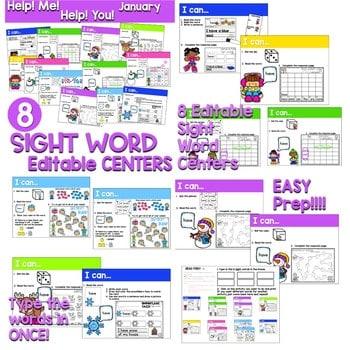 Sight Words Centers EDITABLE! 3