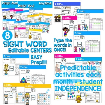 Sight Words Centers EDITABLE! 4