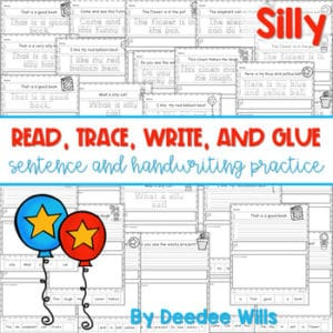 Sentence Printable with Handwriting Practice | Five Senses 7