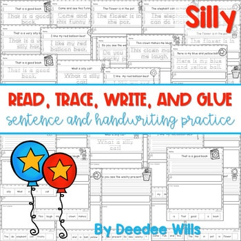 Silly, Silly Read, Trace, Glue, and Draw 1