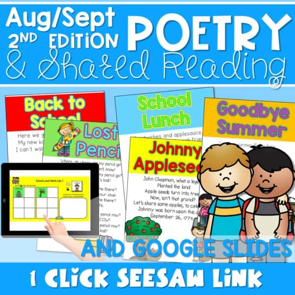 Poetry 2: Poems for August and September 1