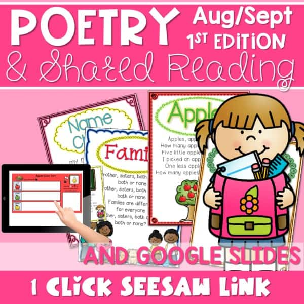 SEESAW Poetry: Poems for August and September 1