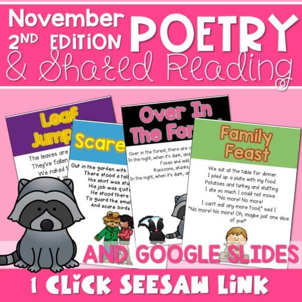 Poetry 2: Poems for November 1