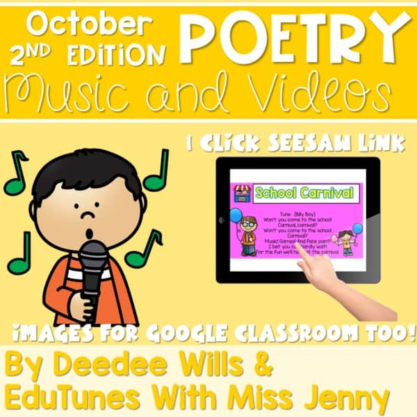 Poetry 2 Music and Video October 1