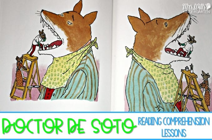 2nd grade picture book with reading comprehension lessons for the book Doctor De Soto. This is a great February read aloud book to use during dental health month. Check out the comprehension strategies that are included for this book.