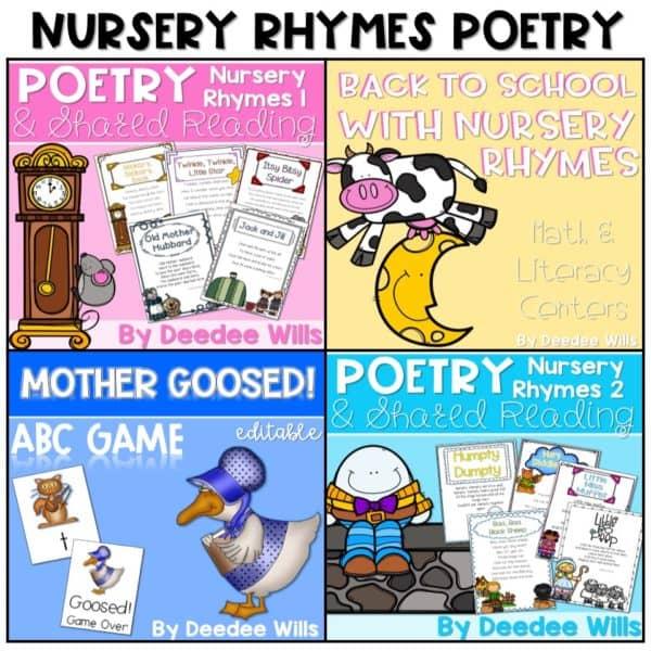 Nursery Rhymes Poetry-The BUNDLED Set 1