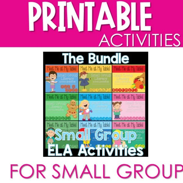 Small Group Meet Me At My Table BUNDLE 1