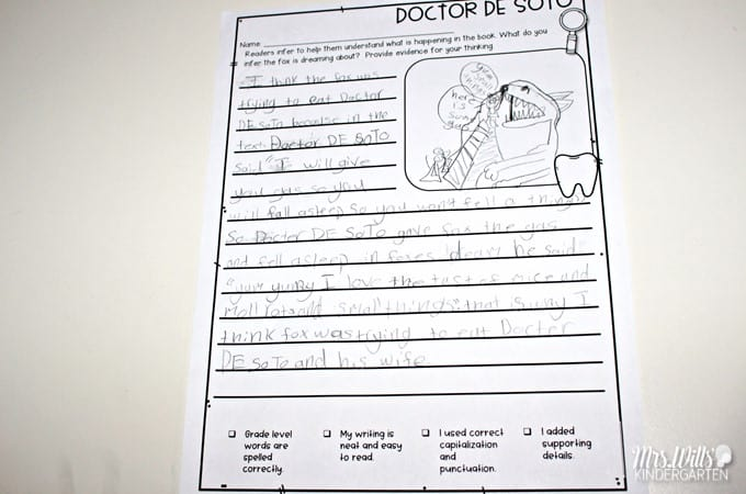 2nd Grade Picture Book Reading Comprehension For Doctor De Soto