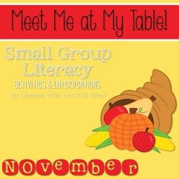 Small Group November ~ Meet Me At My Table 1