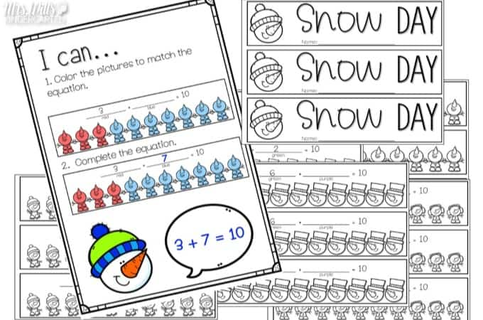 Sneezy the Snowman Lesson Plans for kindergarten and first grade. Reading comprehension, writing prompts, a craft and more. Check out my lesson plan ideas with math and literacy center ideas too for your classroom. Free file too!