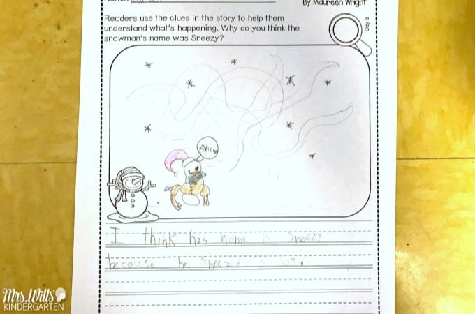 Sneezy The Snowman Lesson Plans For Kindergarten And First Grade