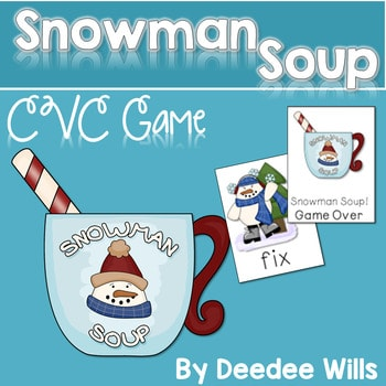 Snowman Soup! A CVC Memory Match and Game 1