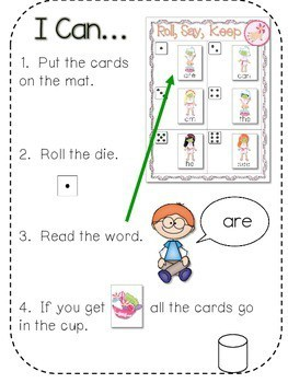 Spa Day Sight Words Roll, Say, Keep-Editable 2