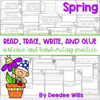 Spring: Read, Trace, Glue, and Draw 1