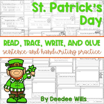 St Patricks Day: Read, Trace, Glue, and Draw 1