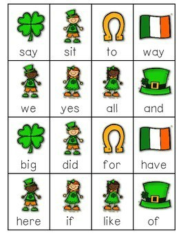 St. Paddy's Day Sight Words Roll, Say, Keep-Editable 4