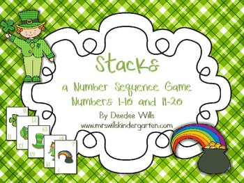 Stacks Game for St. Patrick's Day 1-10 and 11-20 1